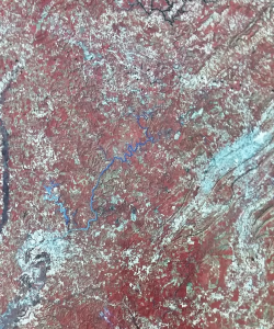 Tuscaloosa and Birmingham viewed from space