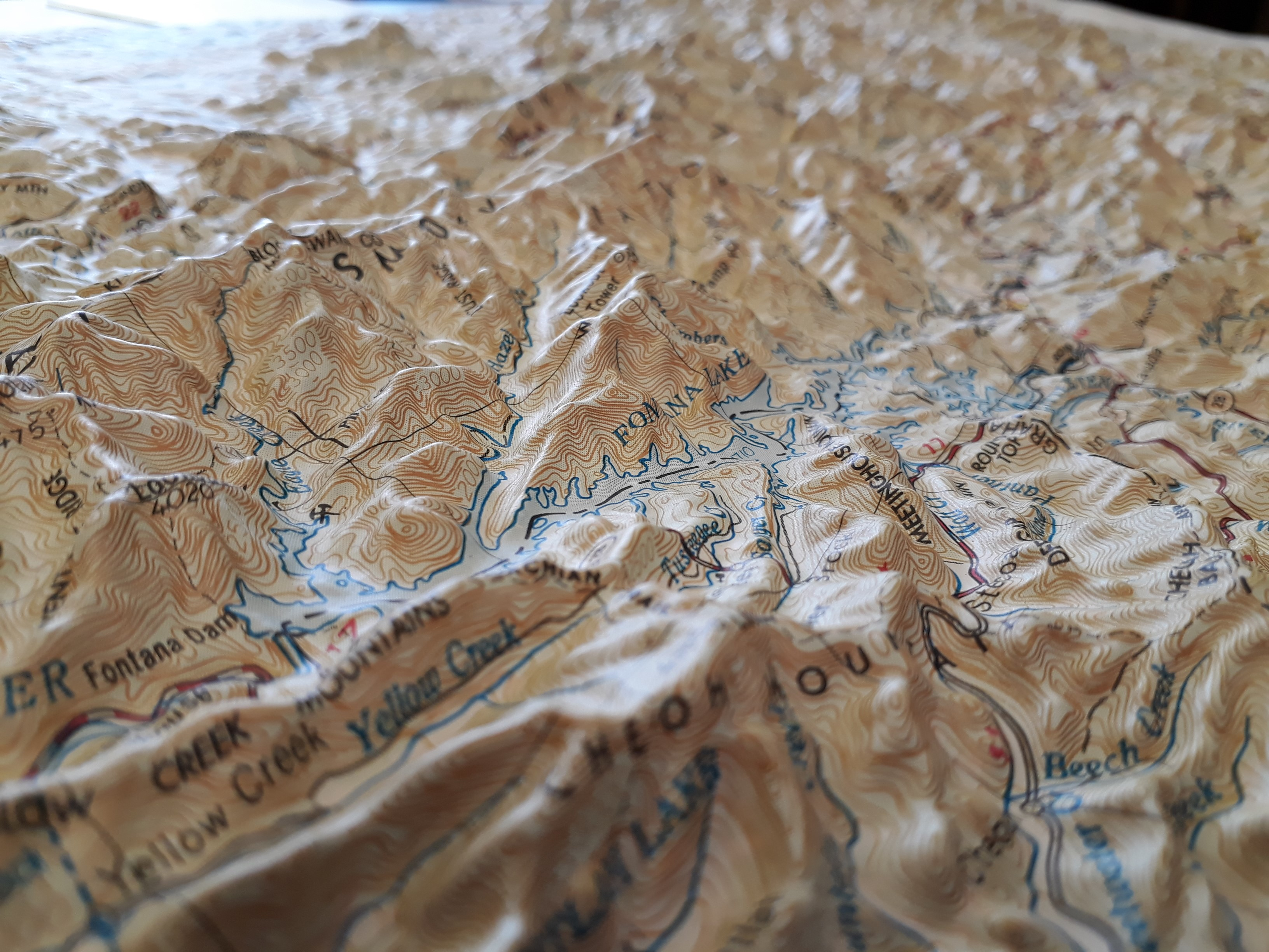 Smokey Mountains National Park 3D map