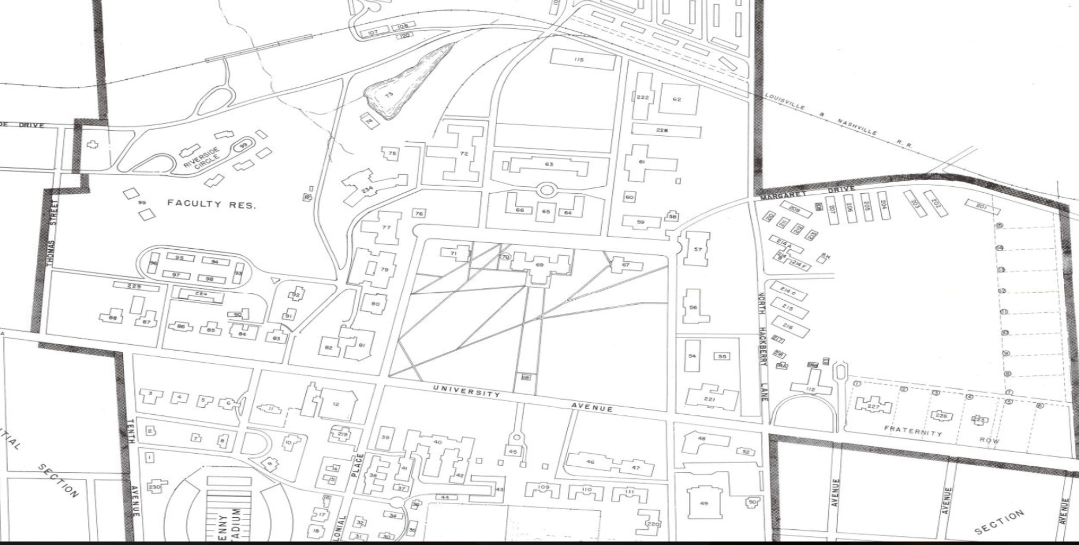 Ua Campus 1958 Map Library