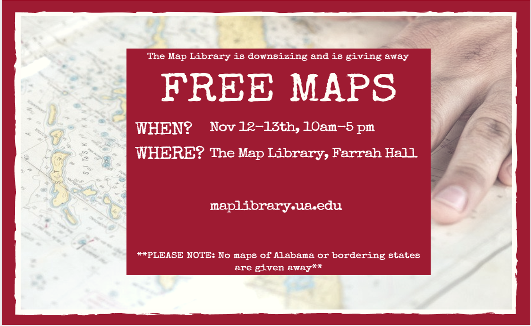 Map giveaway flyer