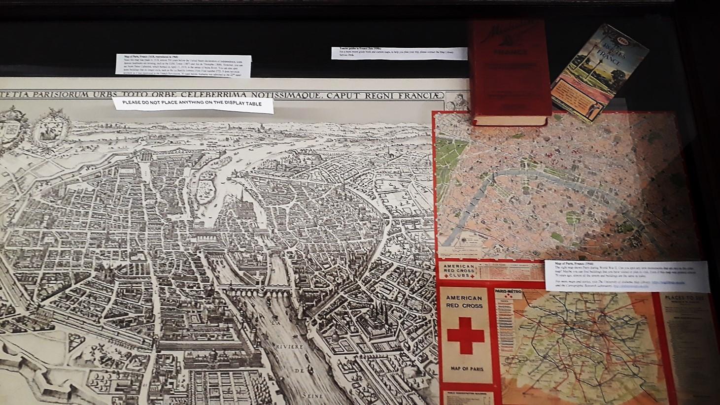 retro map display